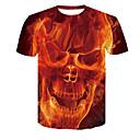 billiga Nagelset-Färgblock T-shirt Herr Orange XXL