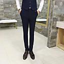 זול מכנסיים ושורטים לגברים-בגדי ריקוד גברים בסיסי חליפות / צ'ינו מכנסיים - פסים שחור כחול נייבי XL XXL XXXL