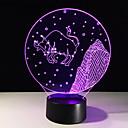 זול אורות 3D הלילה-1pc אור תלת ממדי USB יצירתי <=36 V