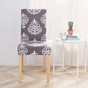 baratos Cobertura de Cadeira-capa para cadeira slipcovers poliéster estampado / estilo moderno e conciso / padrão cinza e branco clássico