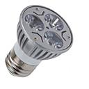 זול נורות לד ספוט-1pc 3 W תאורת ספוט לד 110-210 lm E26 / E27 3 LED חרוזים לבן חם לבן קר 85-265 V