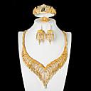 povoljno Komplet nakita-Žene Bijela Svadbeni nakit Setovi Geometrijski Luksuz Klasik Naušnice Jewelry Zlato Za Vjenčanje Party Festival 1set