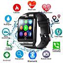 billige Smartklokker-q18s smart klokke menn støtter tf sim kort push melding svar ringe treningssporing bluetooth smartwatch for android telefon