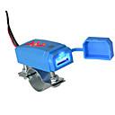 זול כלי ניקוי-אופנוע רכב USB מטען טלפון סלולרי עם מחוון כחול 2.1a