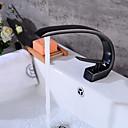 billiga Tvättställsblandare-Badrum Tvättställ Kran - Beröring / Beröringsfri Oljeaktig Brons Kärl Ett hål / Singel Handtag Ett hålBath Taps