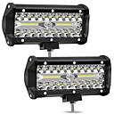 billige Arbeidbelysning-2pcs 4 tommers 72w 4-rad led stripe lys off-car topp refit lys bar arbeidslampe