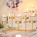 Χαμηλού Κόστους Κεριά & Κηροπήγια-Σύγχρονη Σύγχρονη / μινιμαλιστικό στυλ Ανοξείδωτο Ατσάλι Κηροπήγια Κηροπήγιο 1pc, Κερί / Κερί
