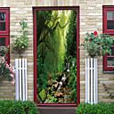 זול שטיחי קיר-יופי חלום ג 'ונגל ערפל הדלת מדבקות דקורטיביים waterproof עיצוב הדלת