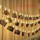 זול אירגוניות לרכב-3aa 3m 20led מחרוזת אורות בית קיר תלויים כרטיס תמונה קליפים תמונה יתדות מחרוזת אור מנורה עיצוב פנים אופנה מחרוזת מנורה 1pc