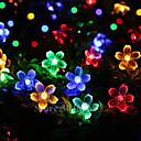 זול טלפון ואוזניות-lende 10m 100 פנסים דובדבן מחרוזת אורות סוללות מופעל חג המולד פסטיבל מקורה קישוט חצר חוצות תאורה דקורטיבי