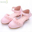 זול נעלי בית לילדים-בנות נעליים לילדת הפרחים / עקבות זעירים עבור בני נוער סטן סנדלים פפיון ורוד בהיר / קריסטל קיץ / סתיו / חתונה / מסיבה וערב / חתונה / גומי
