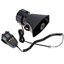 billige Bil-DVR-7-lyd høyt bilvarsel alarm politi brann sirene luft horn pa høyttaler 12v 100w