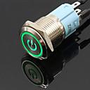 billiga Kontakter till bilen-16mm 12V metall tryckknappsbrytare ledd spärrlåsande låsande självåterställningsbrytare