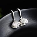 povoljno Modne naušnice-Žene Srebro Kubični Zirconia Okrugle naušnice S925 Sterling Silver Naušnice Jewelry Zlato / Pink Za Vjenčanje Dnevno 1 par