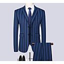 זול חליפות רטובות,חליפות צלילה וחולצות ראש-גארד-בגדי ריקוד גברים שחור אפור אפור בהיר XXXXL XXXXXL XXXXXXL חליפות מידות גדולות פסים רזה