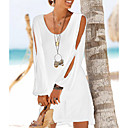 povoljno Biciklističke majice-Žene Shift Haljina - S izrezom Chiffon Mini / Praznik / Izlasci / Plaža