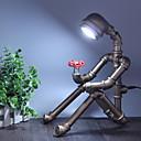 זול נעלי בית וכפכפים לגברים-רטרו תעשייתי רוח שולחן אור ברזל צינור שולחן מנורת חדר לימוד / משרד / מתכת מקורה 220v