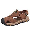 Χαμηλού Κόστους Αντρικά Oxford-Ανδρικά Παπούτσια άνεσης Νάπα Leather Καλοκαίρι Σανδάλια Περπάτημα Αναπνέει Καφέ / Ανοικτό Καφέ / Χακί