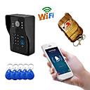 billige Dørtelefonssystem med video-wifi1002ids wifi / ip dørklokke hd 1080p vanntett video dørklokke ringe intercom ekstern opplåsing passord sveipe funksjon