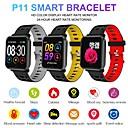 ราคาถูก Smartwatches-P11 ip68 กันน้ำบลูทู ธ smart watch ติดตามการออกกำลังกายอัตราการเต้นหัวใจความดันโลหิตออกซิเจนแคลอรี่การนอนหลับการตรวจสอบสำหรับ android ios