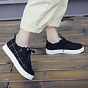 ราคาถูก รองเท้าผ้าใบผู้หญิง-สำหรับผู้หญิง รองเท้าผ้าใบ ส้นแบน ปลายกลม ผ้าใบ ไม่เป็นทางการ / minimalism ฤดูใบไม้ผลิ & ฤดูใบไม้ร่วง / ฤดูร้อนฤดูใบไม้ผลิ สีดำ / ขาว