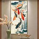 זול אומנות ממוסגרת-דפוס אומנות ממוסגרת תמונת שמן ממוסגרת - חיות עץ ציור שמן וול ארט