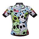 Χαμηλού Κόστους T-shirt Πεζοπορίας-WOSAWE Ανδρικά Κοντομάνικο Φανέλα ποδηλασίας Πράσινο Νεκροκεφαλές Ποδήλατο Αθλητική μπλούζα Ποδηλασία Βουνού Ποδηλασία Δρόμου Ύγρανση Αντανακλαστικές Λωρίδες Πίσω τσέπη Αθλητισμός Δίχτυ 100% Πολυέστερ