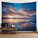 billige Wall Tapestries-Strand Tema Veggdekor 100% Polyester Klassisk / Middelhavet Veggkunst, Veggtepper Dekorasjon