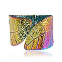 ราคาถูก แหวน-สำหรับผู้หญิง สร้อยข้อมือข้อมือ ทางเรขาคณิต Leaf Shape มีความสุข แฟชั่น โลหะผสม สร้อยข้อมือเครื่องประดับ สีทอง / สีเงิน / สายรุ้ง สำหรับ ของขวัญ ทุกวัน