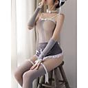povoljno Seksi tijela-Žene Mrežica Sexy Seksi spavaćica / kineska haljina / Odijelo Noćno rublje Color block Sive boje L XL XXL / S naramenicama / Bez naramenica