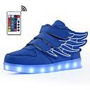 ราคาถูก รองเท้า LED-เด็กผู้ชาย / เด็กผู้หญิง Light Up รองเท้า หนังเทียม รองเท้าผ้าใบ วสำหรับเดิน LED ฟ้า / สีชมพู / สีแดงเบอร์กันดี ฤดูร้อน / ตก / ลายบล็อคสี / ยาง