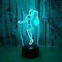 Χαμηλού Κόστους 3D φώτα τη νύχτα-1pc 3D Nightlight RGB USB Αλλάζει Χρώμα / Με θύρα USB <5 V