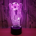billige 3D Nattlamper-1pc 3D nattlys / Nursery Night Light RGB Usb Fargeskiftende / Med USB-port <5 V
