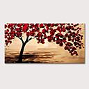 billige Blomster-/botaniske malerier-Hang malte oljemaleri Håndmalte - Abstrakt Blomstret / Botanisk Moderne Inkluder indre ramme