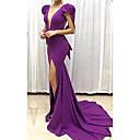 זול שמלות שושבינה-גזרת A צלילה שובל סוויפ \ בראש פוליאסטר ערב רישמי שמלה עם על ידי LAN TING Express