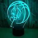 baratos Luzes da noite 3D-1 pc usb power arte abstrata luzes 3d colorido toque gradiente visão noturna luzes coloridas 3d acrílico candeeiro de mesa
