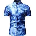 billige T-skjorter og singleter til herrer-Skjorte Herre - Geometrisk Blå / Kortermet