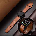 billiga Moderingar-äkta läder armband armband band watch för Apple Watch serien 1/2/3/4 38mm 40mm 42mm 44mm