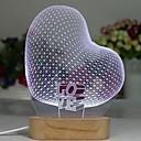 billige 3D Nattlamper-1pc 3D nattlys Hvit Usb Kreativ <=36 V
