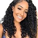 זול פיאות תחרה משיער אנושי-שיער אנושי חזית תחרה פאה חלק חינם בסגנון שיער פרואני מתולתל שחור פאה 130% צפיפות שיער נשים בגדי ריקוד נשים קצר אחרים Clytie