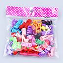 Χαμηλού Κόστους Αξεσουάρ για κούκλες-Παπούτσια κούκλας 20 pcs Για Barbie Πολυεστέρας Παπούτσια Για Κορίτσια κούκλα παιχνιδιών