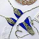 billige Bikinier og damemote-Dame Sporty Grunnleggende Rosa Lilla Fuksia Grime Cheeky Bikinikjole Badetøy - Fargeblokk Kamuflasje Åpen rygg S M L Rosa