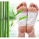 ราคาถูก Massagers & Supports-10 ชิ้น kiyeski แผ่นเท้าขิงแบรนด์เกลือดีท็อกซ์แพทช์การดูแลสุขภาพเท้า