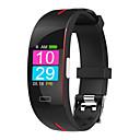 זול חכמים wristbands-ST3 גברים Smart צמיד Android iOS Blootooth עמיד במים מסך מגע מוניטור קצב לב מודד לחץ דם ספורטיבי ECG + PPG שעון עצר מד צעדים מזכיר שיחות מד פעילות