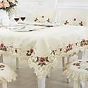 זול כיסויי שולחן-עכשווי קאנטרי סיבי פוליאסטר ריבוע כיסויי שולחן פרחוני מעוטר רקמה לוח קישוטים