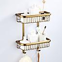 billige Baderomshyller-Hylle til badeværelset Flerlags / Nytt Design Antikk / Land Messing 1pc - Baderom / Hotell bad Dobbel Vægmonteret