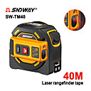 baratos Detectores & Testers-Medidor de distância a laser sndway range finder 40 m fita métrica a laser retrátil digital 5 m laser rangefinder régua ferramenta de pesquisa