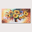 Χαμηλού Κόστους Αφηρημένοι Πίνακες-Hang-ζωγραφισμένα ελαιογραφία Ζωγραφισμένα στο χέρι - Νεκρή Φύση Άνθινο / Βοτανικό Μοντέρνα Περιλαμβάνει εσωτερικό πλαίσιο