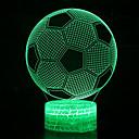 Χαμηλού Κόστους 3D φώτα τη νύχτα-1pc 3d ποδόσφαιρο νυχτερινό φως αλλαγή χρώματος usb δημιουργικό<= 36 v