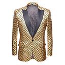 זול מקרנים-סגול / צהוב / אדום אחיד גזרה רגילה פוליאסטר חליפה - סגור Single Breasted One-button